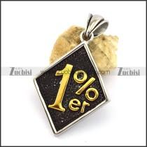 Golden 1%er Silver Pendant p002999