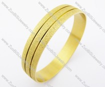12mm Wide Yellow Gold Stainless Steel Bangle- JB200141