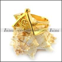 18K Gold Plating Mason Ring r004631