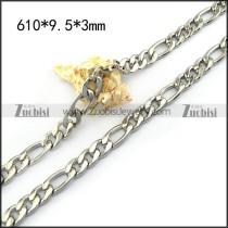 24-inch Long Figaro Chain in 9.5mm Wide n001582