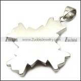 Silver Stainless Steel Cross Pendant with Square Faceted Red Stone p007039