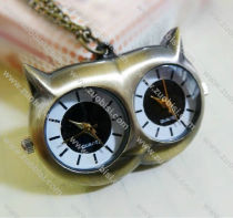 Vintage Large Owl Pocket Watch Chain - PW000008