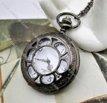 Gun Metal Sun Flower Pocket Watch Chain - PW000073