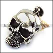 Large High Polishing Steel Skull Pendant p003467