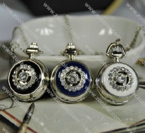 Silver Epoxy Pocket Watch Chain -PW000262