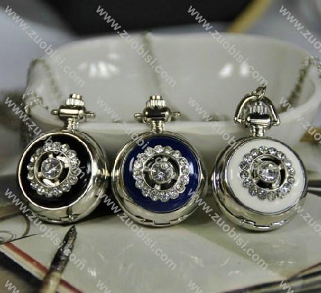 Silver Epoxy Pocket Watch Chain -PW000262