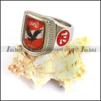 stainless steel eagle ring crafted epoxy r003709