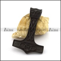 Dark Black Thor Hammer Pendant p003026