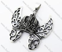 Stainless Steel Crown Pendant - JP370041