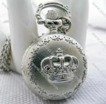 Silver Crown Pocket Watch -PW000324