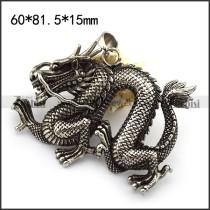 Big Casting China Dragon Pendant p004381