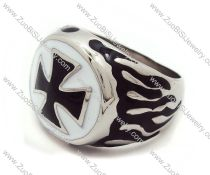 Epoxy Stainless Steel Cross Ring -JR010068