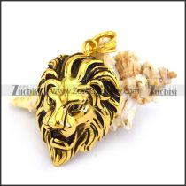 Antique Gold Stainless Steel Lion Head Pendant p003347