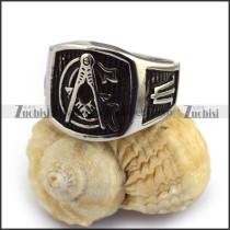 Vintage Silver Masonic Ring r003620