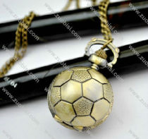 Vintage Brass Football Pocket Watch Chain - PW000034