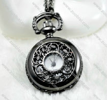 Gun Black Pocket Watch -PW000283