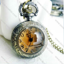 Vintage Tawny Face Pocket Watch Chain - PW000020