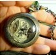 Antique Mechanical Pocket Watch with chain -pw000390