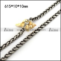 10mm Wide Vintage Large Snake Chain Necklace in Antique Finish n001483