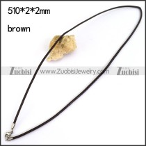 Brown Leather Cord Necklace n001181