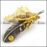 Casting Feather With Gold Plated Claw p003781