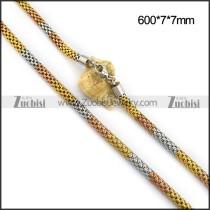 3 Tones 7MM Net Chain in Stainless Steel n001101