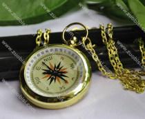Fashion Gold Compass Pocket Watch Chain - PW000060