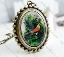 Antique Brass Bird Pocket Watch -PW000292