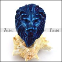 Shiny Blue Plating Lion Ring r003591