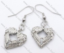 Antique Heart Stainless Steel earring - JE050130