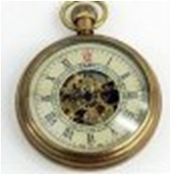 Antique Mechanical Pocket Watch with chain -pw000395