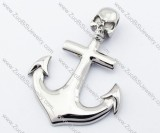 Shiny Simple Stainless Steel Steamboat Anchor Pendant-JP330075