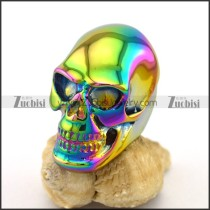 Coloful Plating Huge Bareheaded Skull Ring r003394