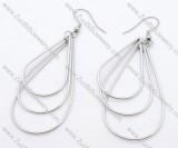 Three Lines Stainless Steel earring - JE050140