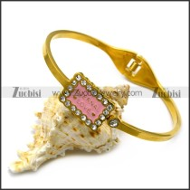 ETERNAL LOVE enamel bangle in k gold plating b007242