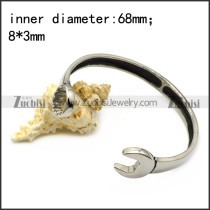 silver casting spanner bangle b007003