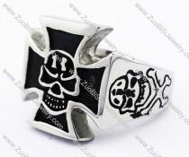 13 Stainless Steel Cross Skull Ring -JR010102