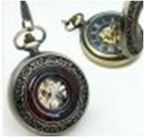 Antique Mechanical Pocket Watch with chain -pw000403