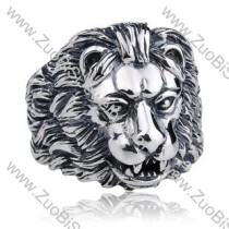 Stainless Steel Lion Ring - JR350103