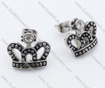 Crown Stainless Steel earring - JE050035
