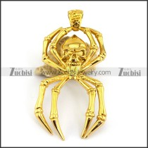 24K Gold Plated Spider Pendant p003287