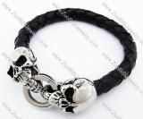 Stainless Steel Bald skull Bracelet - JB400008