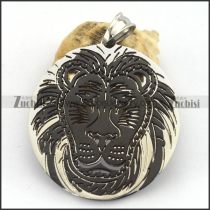 Black Lion Round Cutting Pendant p003258