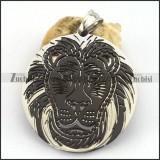 Black Lion Round Cutting Pendant p003258