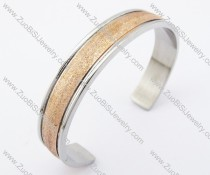 10mm Wide Rose Gold Stainless Steel Bangle JB200140