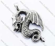 Stainless Steel dragon pendant - JP300016