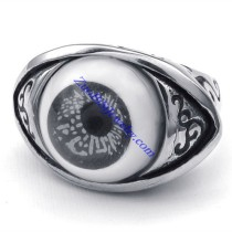 evil eye jewelry as ring in grey tone for mens -JR350274