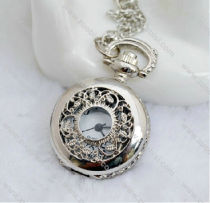 Silver Flower Pocket Watch -PW000229