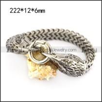 stainless steel casting raven bracelet b006163