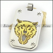 Golden Wolf Cutting Pendant p003244